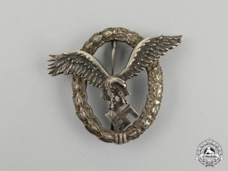 Germany, Luftwaffe. An Early Pilot's Badge, by C. E. Juncker (J-1)