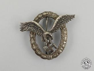 Germany, Luftwaffe. An Early Pilot's Badge, by C. E. Juncker (J-1)
