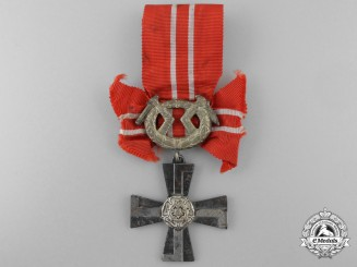 Finland, Republic. An Order of the Cross of Liberty, IV Class Silver Cross, 1941