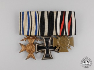 A First War German Bavarian Military Merit Cross Medal Bar
