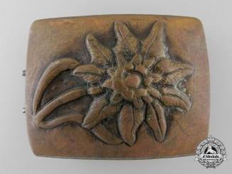 A Rare Edilwiess Belt Buckle by Josef Feix & Söhne, Gablonz