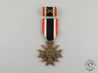 A War Merit Cross Second Class with Swords with its Matching Medal Ribbon Bar