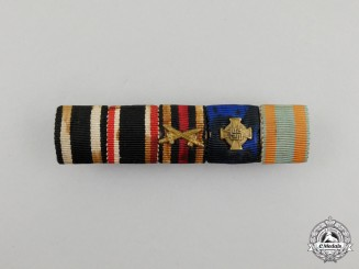 A First and Second War German Medal Ribbon Bar