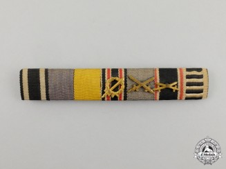 A First and Second War German Honour Legion Medal Ribbon Bar