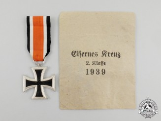 An Iron Cross 1939 Second Class in its Packet of Issue