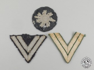 Three Second War German Cloth Insignia