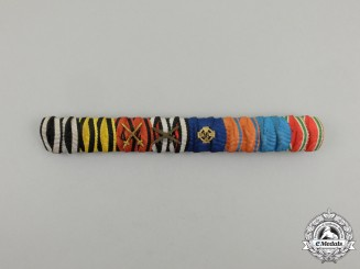 An Extensive First and Second War German Medal Ribbon Bar