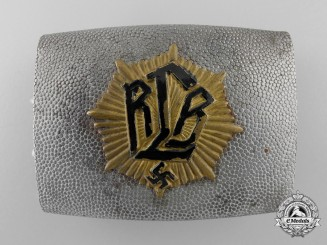 An Air Raid Protection League Unofficial Enlisted Man's Belt Buckle; Published Example