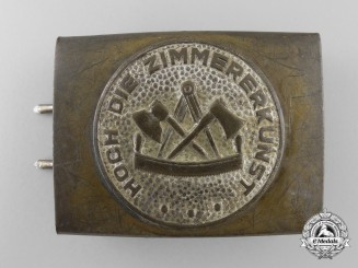 A German Carpenter's Trade Belt Buckle