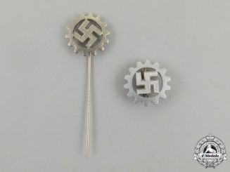 A Third Reich Period DAF (German Labour Front) Membership Stick Pin and Badge