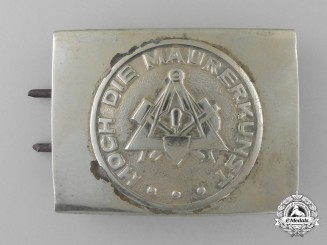 A German Stone Mason's Trade Belt Buckle