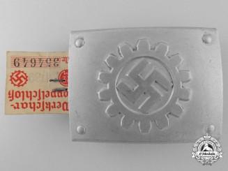 A German Labour Front Stosstrupp of the Werkschar Enlisted Man's Belt Buckle; Published