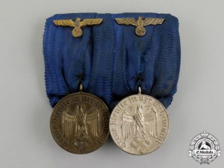A Wehrmacht Long Service Medal Bar Pair