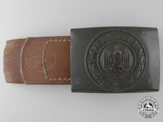 An Army (Heer) Enlisted Man's Belt Buckle by Berg & Nolte, Lüdenscheid, 1941