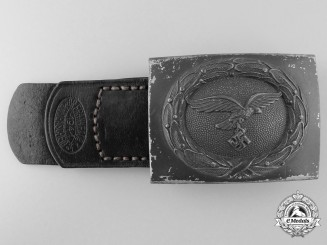 A 1940 Pattern Luftwaffe Enlisted Man's Belt Buckle; II./Reg.Gen.Göring