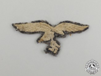 A Worn Luftwaffe EM/NCO's Overseas Cap Eagle