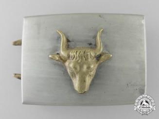 A German Butcher's Association Belt Buckle by G.H. CSANG