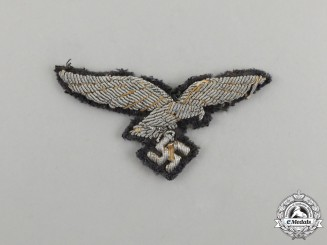 A Second War German Luftwaffe Officer's Overseas Cap Eagle