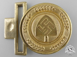 An RAD (Reichsarbeitsdienst) General Officer's Belt Buckle by Overhoff & Cie