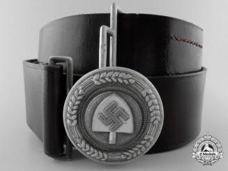 An RAD (Reichsarbeitsdienst) Officer's Belt with Buckle by F.W. Assmann & Söhne