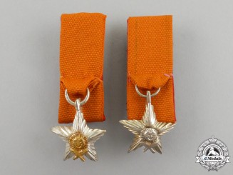 A Pair of Miniature Nepalese Most Puissant Order of the Gurkha Right Hand Awards