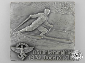 A 1938 N.S.F.K. Winter Ski Competition Plaque