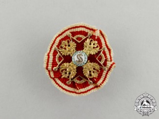 Russia, Imperial. An Order of St. Stanislaus in Gold, Miniature Boutonniere, c.1900