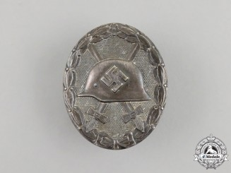 An Early German Silver Grade Wound Badge by the Official State Mint of Vienna