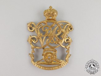 A Victorian Royal Canadian Artillery Helmet Plate