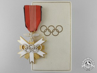 A XI Summer Olympic Games Decoration; 2nd Class with Case
