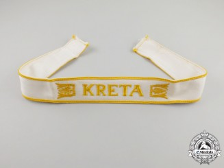 An Absolutely Mint Second War German Kreta Campaign Cuff Title