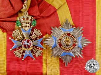 A Brunswick Order of Henry the Lion Grand Cross Set of Insignia (1912-1918)