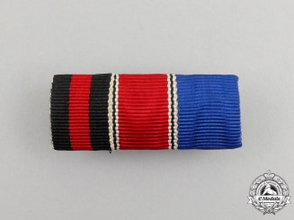 A German Long Service & Anschluss  Medal Ribbon Bar