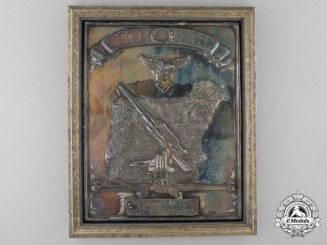 "A Legion Condor Honour Award Plaque to the Heavy Flak Unit ""F 88"""