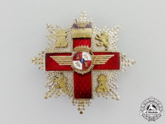 Spain, Fascist State. A Cross of Aeronautical Merit with Red Distinction, II Class Star, c.1950