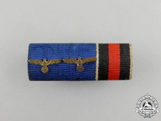 A Second War German Long Service Medal Ribbon Bar
