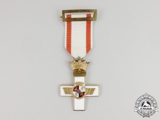 Spain, Franco Period. A Cross of Aeronautical Merit, I Class Cross with White Distinction
