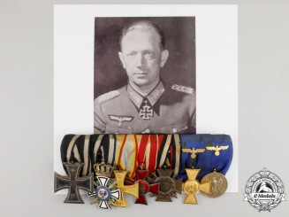 The Medal Bar of Knight's cross Recipient Colonel Thomas-Emil Wickede