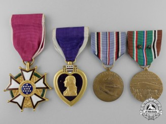 A Second War Legion of Merit & Purple Heart Group to Alfred W. Parry
