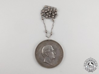 United States. A President Millard Fillmore Native Peace Medal, Silver First Edition, c.1850