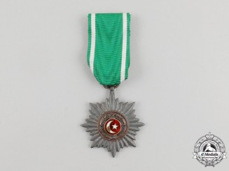A Unique Silver Grade Eastern People's Bravery Decoration; 2nd Class