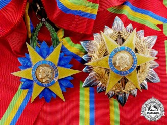 A French-Made Gabonese Order of the Equatorial Star; Grand Cross Set