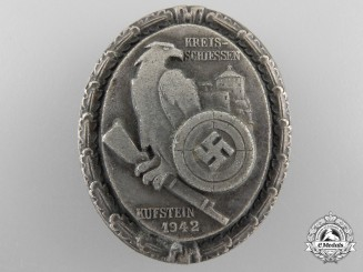 A Scarce 1942 Shooting Competition Badge Kufstein