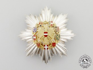 A First Class Grand Cross Breast Star For Merit of the Republic of Austria; Type II 1952