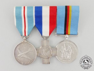 United Kingdom. A Cold War Medal Trio to Sergeant H.W. Stubley 35 Bomber Squadron