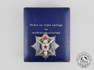 A Socialist Yugoslavia Order of Military Merit with Silver Swords; 3rd Class