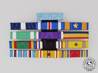 An Extensive Congressional Medal of Honor & Navy Cross Ribbon Bar
