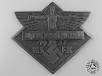 An NSFK Rhineland and Westphalia Flight Day 1937 Plaque