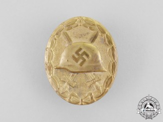 A Second War German Gold Grade Wound Badge by B.H. Mayer
