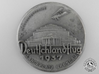 A 1937 German Flying Event Breslau Plaque